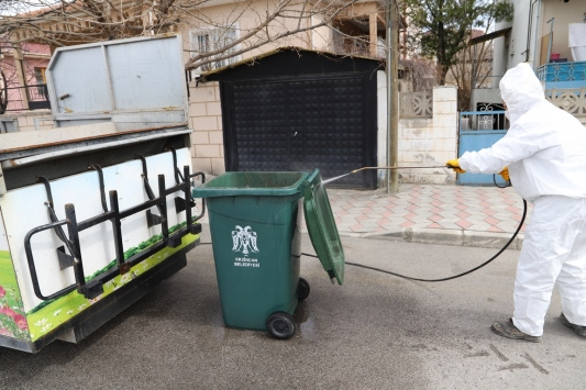Erzincanda kullanım alanları sık sık dezenfekte ediliyor