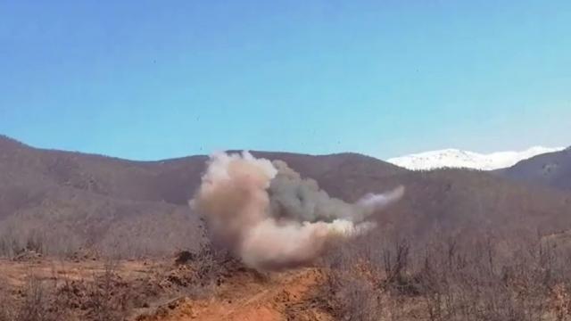 Bitlis'te yola tuzaklanan el yapımı patlayıcı imha edildi