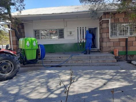 Ahlatta dezenfekte çalışmaları devam ediyor