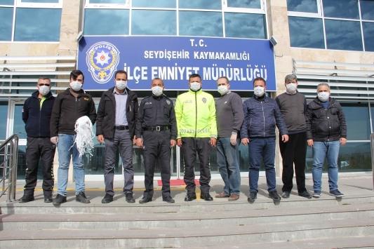Seydişehirde polis ve jandarmaya maske desteği