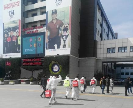 İstanbul Emniyet Müdürlüğünde koronavürüs tedbirleri artırıldı