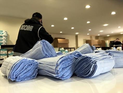 Bursada kaçak üretilen 100 bin maskeye el kondu