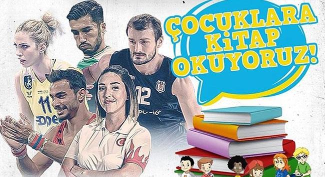 Sporcular sosyal medyadan çocuklara kitap okuyor