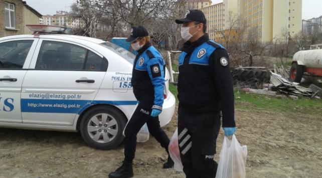 Elazığ polisi 371 yaşlının ihtiyacını karşıladı