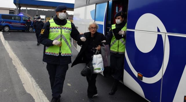 Yolcu otobüslerinde virüs tedbirleri denetlendi