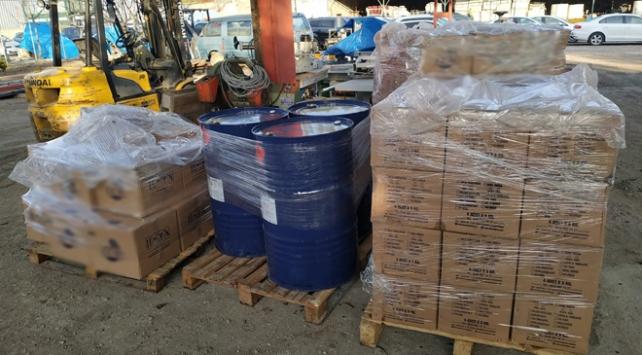 Ankarada 2 bin 500 litre kaçak dezenfektan ele geçirildi