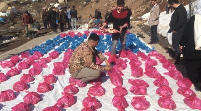 Hakkaride ihtiyaç sahipleri için 180 kurban kesildi