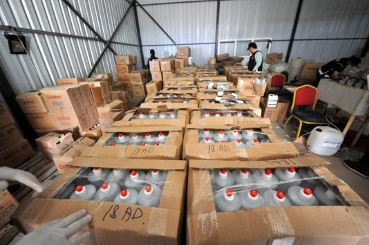 Bursada 20 ton sahte dezenfektan ele geçirildi