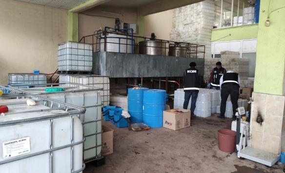 Malatyada 2 bin 600 litre sahte dezenfektan ele geçirildi