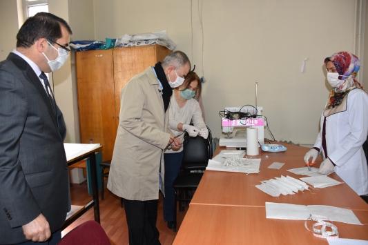 Artvinde maske üretimine başlandı