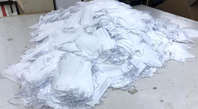 140 bin tıbbi maske ele geçirildi