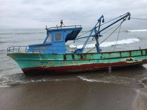 Samsunda çalınan balıkçı teknesi Giresunda bulundu