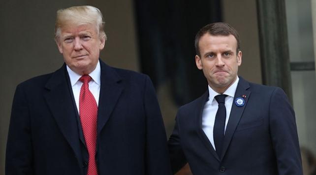 Trump ve Macron Covid-19u görüştü