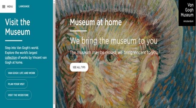 Amsterdama gitmeden Van Gogh Müzesini gezebilirsiniz