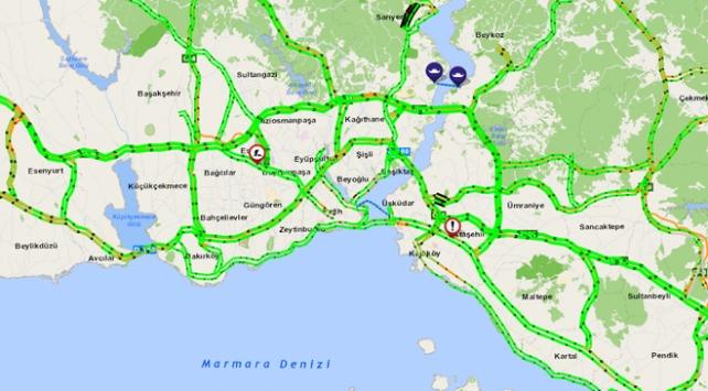 İstanbulda trafik yoğunluğu yüzde 90 azaldı