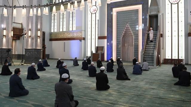 Beştepe Millet Camii'nde kısıtlı cuma namazı