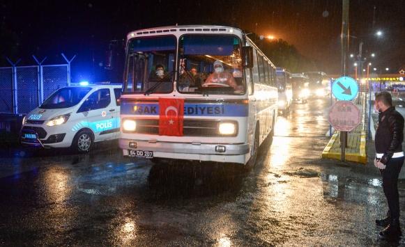 KKTCden gelen 580 kişi yurtlara yerleştirildi