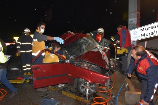 Aydında otomobil ile kamyonet çarpıştı: 1 ölü, 2 yaralı