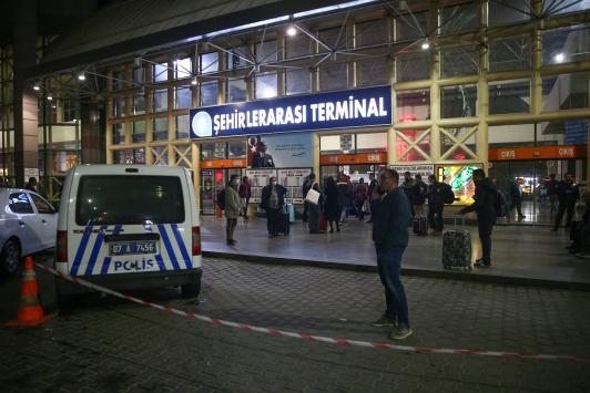 Antalyada otogardan otobüs çıkışlarına izin verilmedi