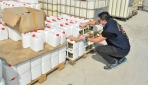 2 milyon lira değerinde sahte dezenfektan ele geçirildi