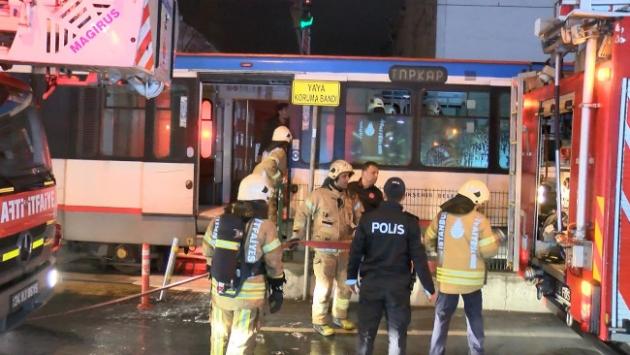 Sultangazide tramvayda yangın