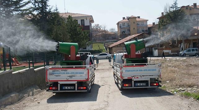 Ankarada 15 bin nokta dezenfekte edildi