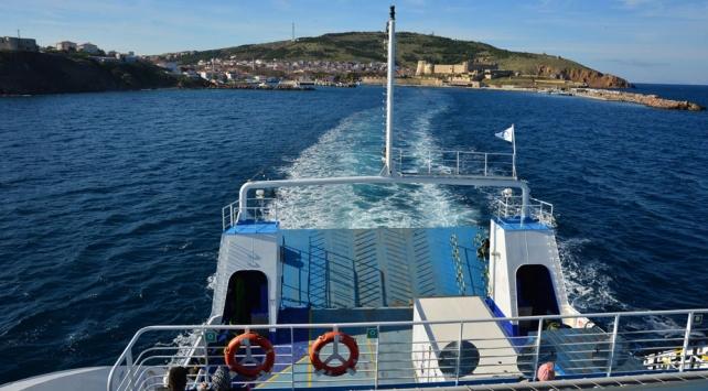 Bozcaada-Geyikli feribot seferleri haftada iki güne düşürüldü