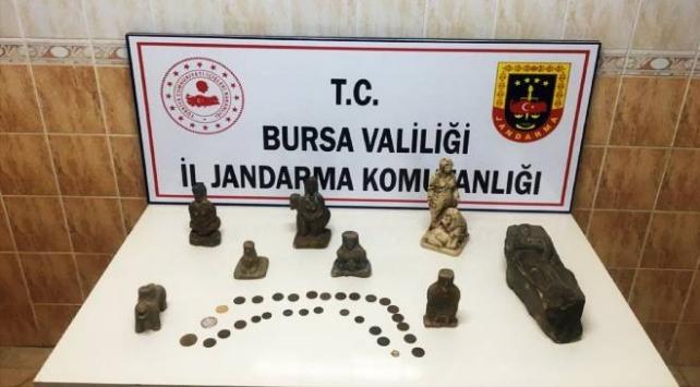 Bursada tarihi eser operasyonu: 4 gözaltı