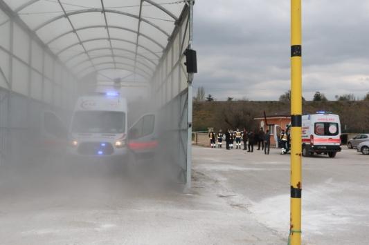 Kırıkkalede Araç Dezenfeksiyon Tüneli açıldı