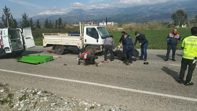 Muğlada kamyonetle çarpışan motosikletin sürücüsü öldü