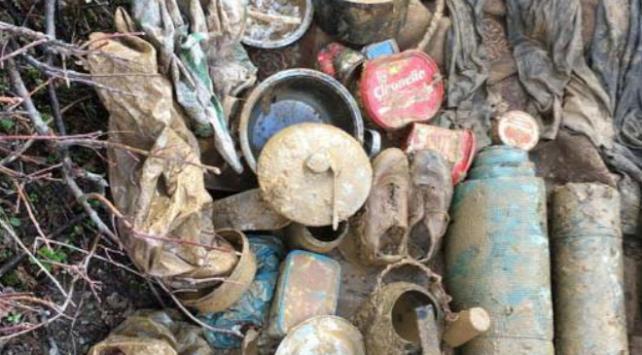 Bitliste teröristlere ait malzemeler ele geçirildi