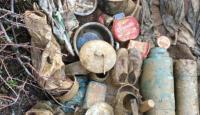 Bitlis'te teröristlere ait malzemeler ele geçirildi