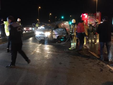 Hatayda devrilen otomobilin sürücüsü yaralandı