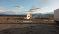 Ağrı'da sınırdaki doğal gaz boru hattında patlama