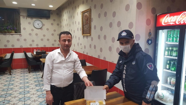 Trabzonda tatlı aşeren kadının isteğini zabıta yerine getirildi