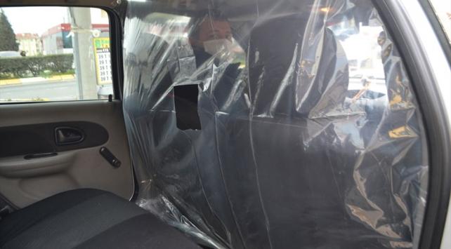 Kırklarelili taksiciden koronavirüse brandalı önlem