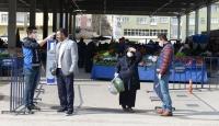 Ankara'da pazar yerlerinde yeni tedbirler uygulanmaya başlandı