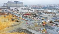 Başakşehir İkitelli Şehir Hastanesinin yollarının yapımına başlandı