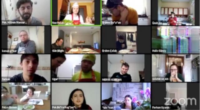 Down sendromlu bireyler online mutfakta buluştu