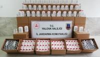 Yalova'da 2 ton 874 kilogram sahte dezenfektan ele geçirildi