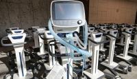 Yeni açılacak şehir hastanesinin 155 solunum cihazı geldi