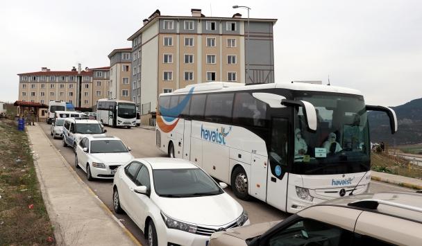 Karabükte yurtlara yerleştirilen yabancılar ülkelerine gönderilmek üzere yola çıktı
