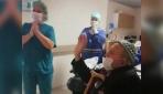 Koronavirüsü yendi, alkışlarla hastaneden taburcu edildi