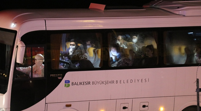 KKTCden gelen 190 kişi Balıkesirde 14 günlük karantinaya alındı