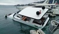 İstanbul'da lüks gezi teknesi battı