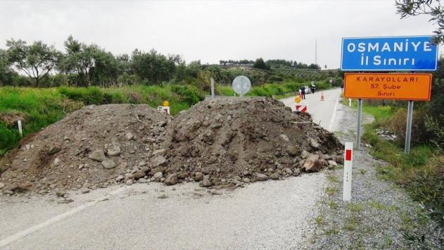 Hatay ile Osmaniye'yi bağlayan ara yol ulaşıma kapatıldı