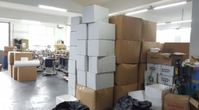 İstanbulda kaçak üretilen 100 bin maskeye el konuldu