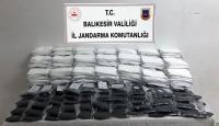 Balıkesir'de kaçak üretilen 9 bin 850 maskeye el kondu