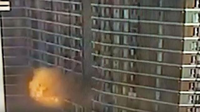 Esenyurt'taki patlama anı kamerada
