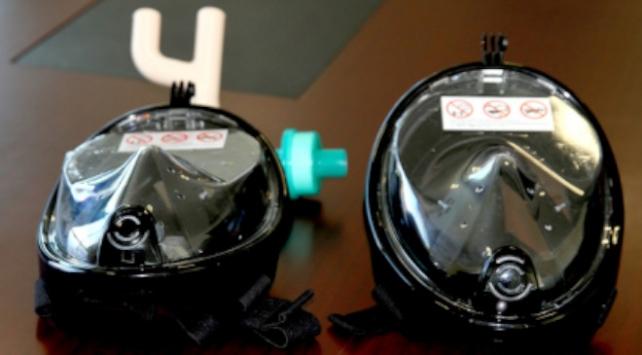 Trakya Üniversitesi dalış maskelerini solunum maskesine çevirdi